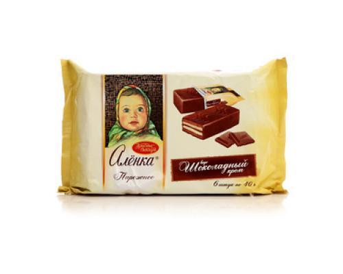 Пирожное Алёнка вкус шоколадный крем ТМ Красный Октябрь
