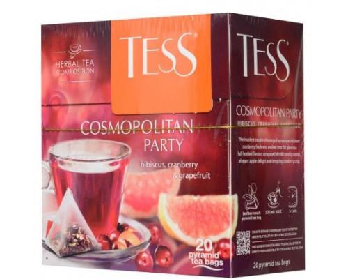 Чай травяной ТМ Tess (Тесс) Cosmopolitan Party, в пирамидках, 20 шт.