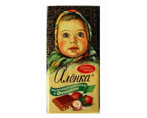 Шоколад ТМ Красный Октябрь, Аленка с фундуком 100 г