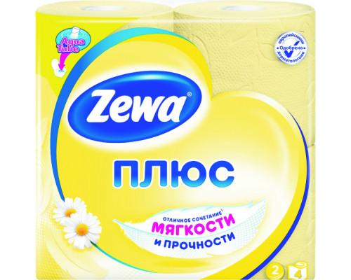 Бумага туалетная ТМ Zewa (Зева) Плюс Ромашка, 2 слоя, 8 рулонов