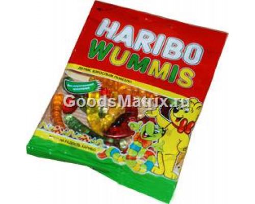 Жевательный мармелад червячки Вуммис Haribo Wummis (Харибо), 70 г