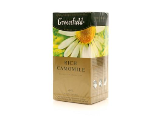 Чай травяной с ароматом яблока и корицы Rish Camomile 25 пак. ТМ Greenfield (Гринфилд)