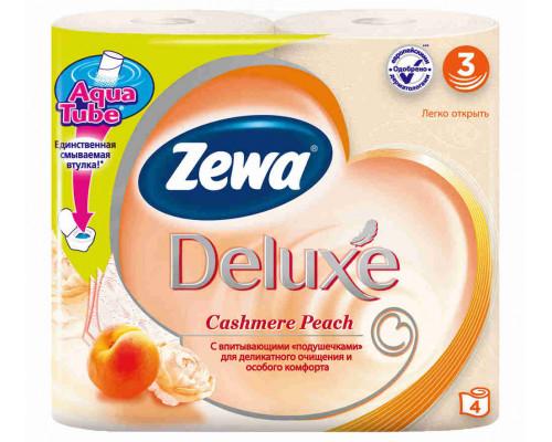 Туалетная бумага Zewa Deluxe 3сл с ароматом персика, 4шт