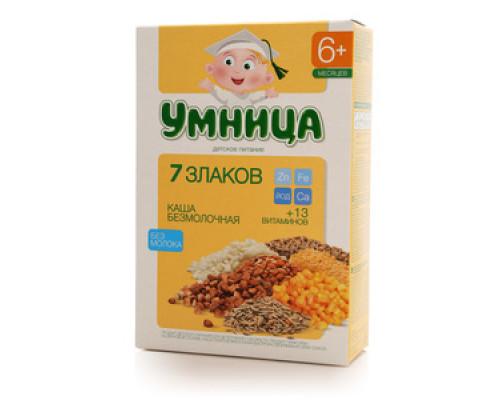 Каша безмолочная 7 злаков ТМ Умница