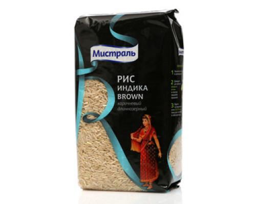 Рис коричневый длиннозёрный Индика Brown (Браун) ТМ Мистраль