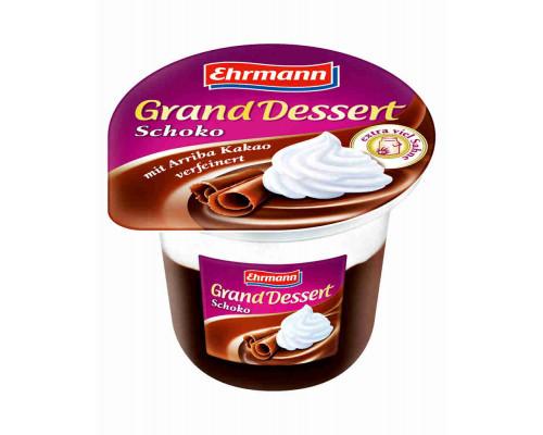 Пудинг Ehrmann Grand Dessertт со взбитыми сливками шоколадный 4,9% 200г
