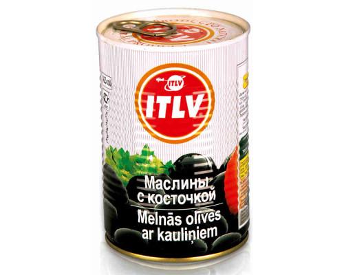 Маслины черные Itlv с/к 390г ж/б