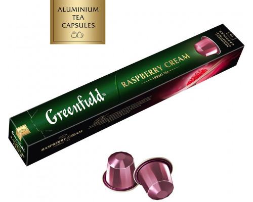 Чайный напиток ТМ Greenfield (Гринфилд) Raspberry Cream, с ароматом малины и ванили, 10 шт. по 2,5 г