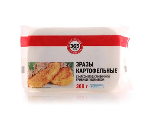 Зразы картофельные с мясом под сливочной грибной подливкой ТМ 365 Дней