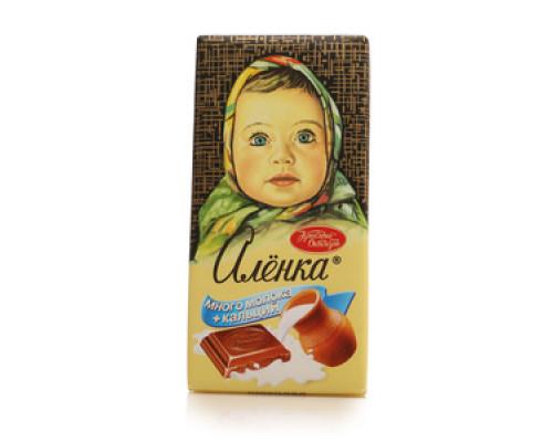 Шоколад ТМ Красный октябрь, молочный `Много молока + кальций`. 100 г