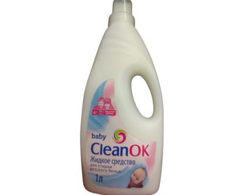 CleanOk, baby, жидкое средство для стирки детского белья, 1 л