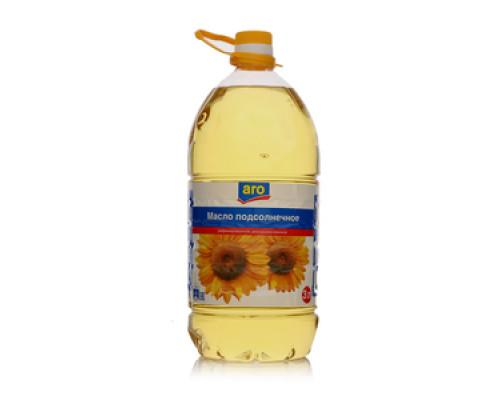 Масло подсолнечное рафинированное дезодорированное ТМ Aro (Аро)