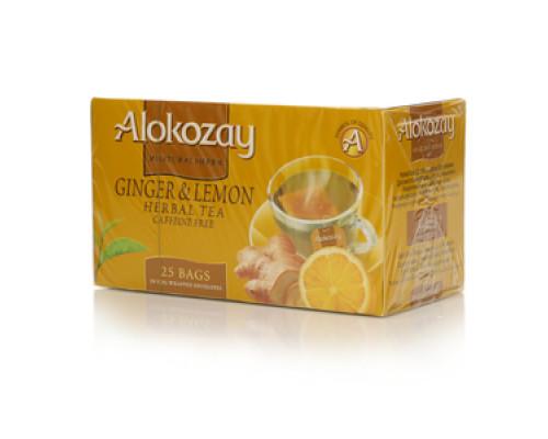 Чай травяной с имбирем и лимоном 25 пак. ТМ Alokozay (Алокозай)