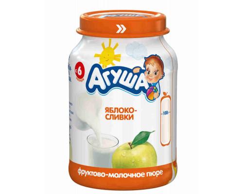Пюре Агуша яблоко/сливки с 6мес 200г ст/б