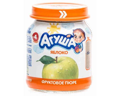 Пюре Агуша яблоко с 4мес 115г ст/б