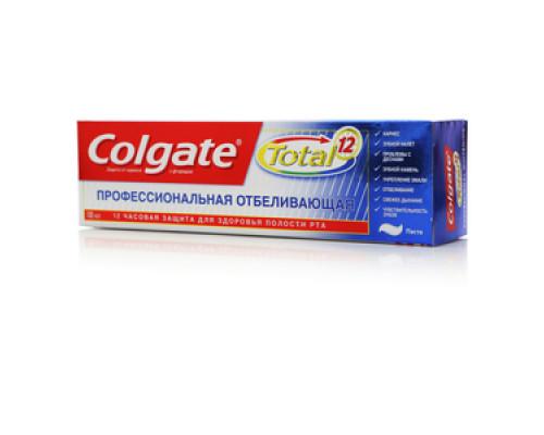 Зубная паста профессиональная отбеливающая Colgate Total 12 ТМ  Colgate (Колгейт)