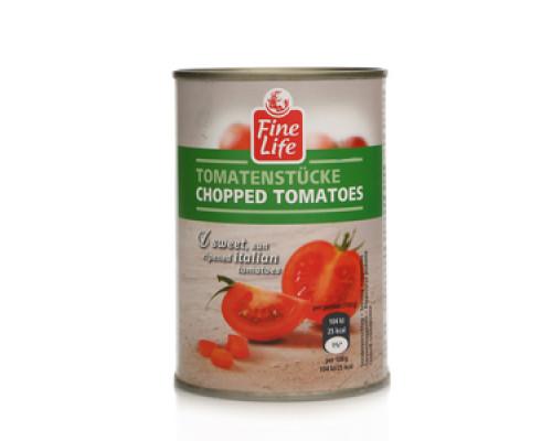 Помидоры рубленные в томатном соке ТМ Fine Life (Файн Лайф)