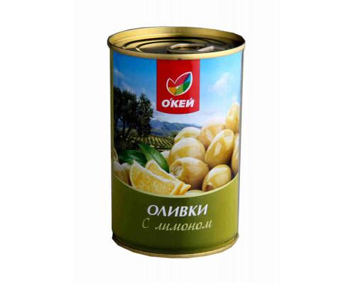 Оливки ОКЕЙ фаршированные лимоном 300г