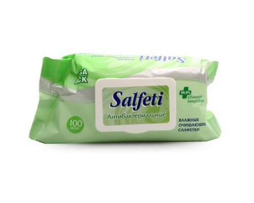 Салфетки влажные антибактериальные ТМ Salfeti (Салфети) 100 шт