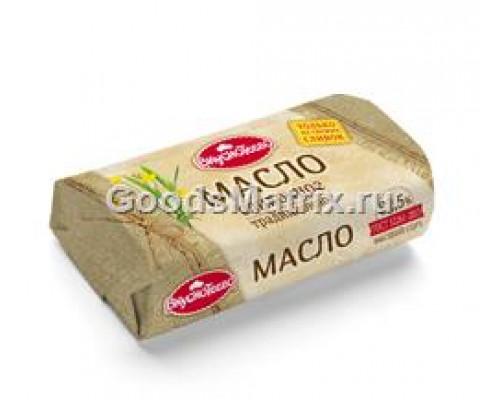 Масло сливочное традиционное ТМ Вкуснотеево, высший сорт, 82,5%, 400 г