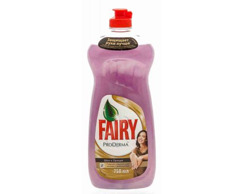 Средство д/мытья посуды Fairy ProDerma ProDerma Шёлк и орхидея 650мл