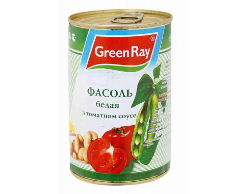 Фасоль белая Green Ray в томатном соусе 425г ж/б
