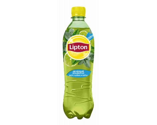 Напиток Lipton чай зеленый б/алк лайм/мята 0,5л пэт