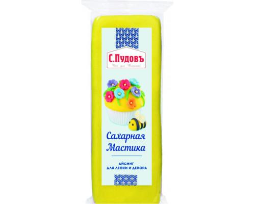 Мастика ТМ Пудовъ сахарная желтая, 100 г