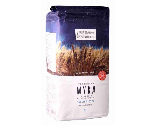 Мука Рязаночка пшеничная в/с 2кг