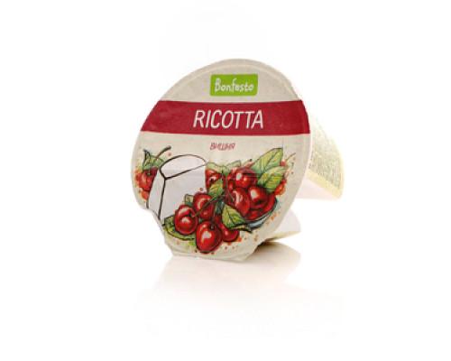 Сыр мягкий Ricotta с вишней ТМ Bonfesto (Рикотта Бонфесто)