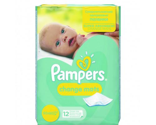 Детские пеленки ТМ Pampers (Памперс) одноразовые ChangeMats, 60 х 60 см, 12 шт.