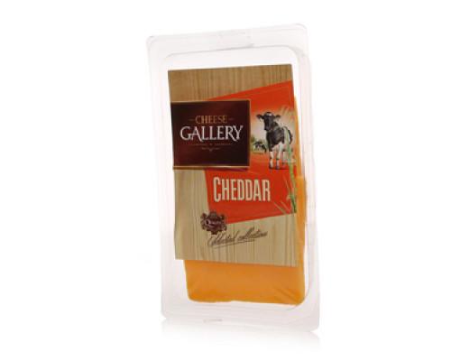 Сыр Чеддер 48% в нарезке ТМ Cheese Gallery (Чиз Гэллари)