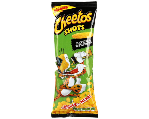 Снеки кукурузные ТМ Cheetos (Читос) Shots со вкусом Вареная кукуруза, 18 г