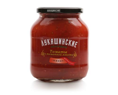 Томаты в томатной мякоти ТМ Лукашинские консервы