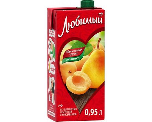 Напиток сокосодержащий ТМ Любимый Яблоко-Абрикос-Груша , 0,95 л