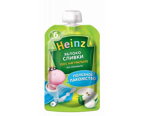 Пюре Heinz яблоко/сливки с 6мес 90г д/п