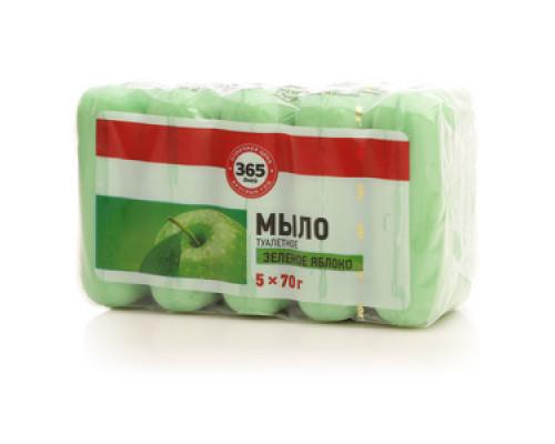 Мыло туалетное Зеленое яблоко 5*70г ТМ 365 дней