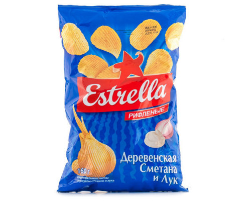 Чмпсы ТМ Estrella (Эстрелла), сметана и лук 60 г