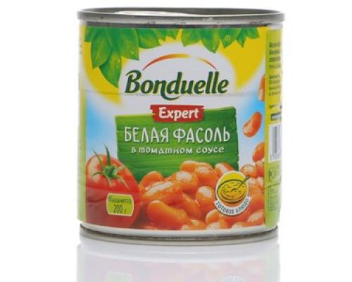 Белая фасоль в томатном соусе ТМ Bonduelle (Бондюэль)