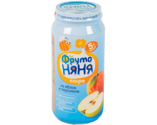 Пюре ТМ Фрутоняня Яблоко персик, с 5 мес., 250 г