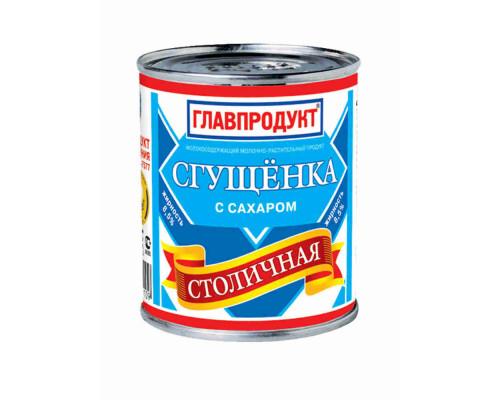 Продукт молокосодержщий сгущенка Главпродукт Столичная с сахаром 380г ж/б