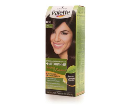 Стойкая крем-краска для волос 'Фитолиния' 800 темно-каштановый ТМ Palette (Палет)