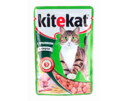 Корм Kitekat д/кошек кролик в соусе 85г пауч