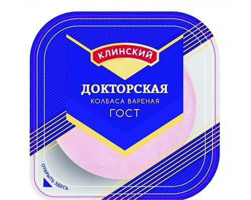 Колбаса Докторская ТМ Клинский, нарезка, 190 г
