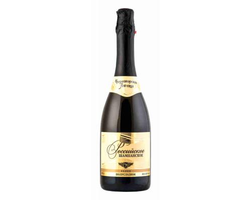 Шампанское Российское белое полусладкое Черноморская Легенда. 0.75л