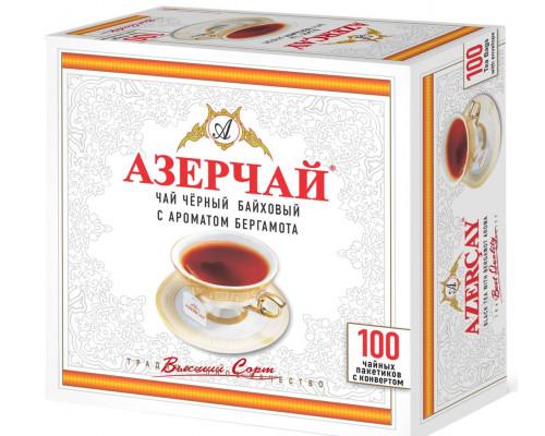 Чай черный ТМ Азерчай, с ароматом бергамота, 100х2 г