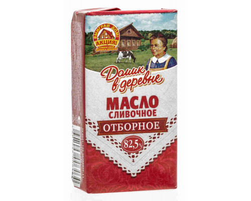 Масло сливочное Домик в деревне 82,5% 180г фольга