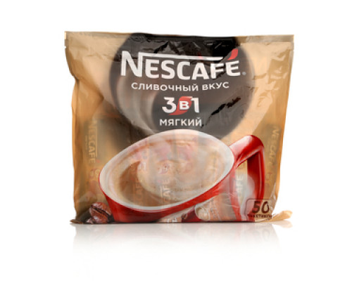 Напиток кофейный растворимый 3 в 1 сливочный вкус 50 пак. ТМ Nescafe (Нескафе)
