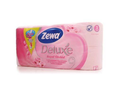 Туалетная бумага ТМ Zewa Deluxe 3 -слойная (Зева делюкс), 8 шт