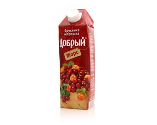 Морс ТМ Добрый, брусника-морошка, 1 л